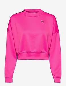 Train Brave Zip Crew Sweatshirt - sweatshirts - luminous pink