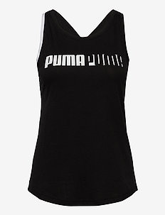 Train Logo Cross Back Tank - tank tops - puma black