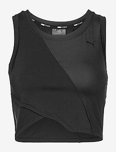 Studio Crop Lace Tank - któtkie bluzki - puma black