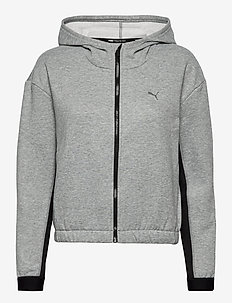 Train Favorite Fleece Full Zip Hoodie - hoodies - medium gray heather