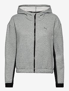 Train Favorite Fleece Full Zip Hoodie - hupparit - medium gray heather