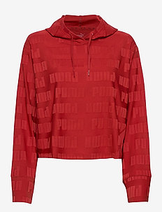 Train First Mile Mono Hoodie - hoodies - red dahlia