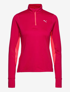 RUN FAVORITE 1/4 ZIP W - bluzy i swetry - persian red-sunblaze