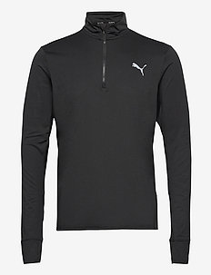 RUN FAVORITE 1/4 ZIP M - langermede topper - puma black