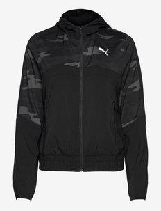 RUN GRAPHIC HOODED JACKET W - vestes d'entraînement - puma black