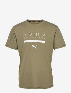 RUN LOGO SS TEE M - t-shirts - grape leaf