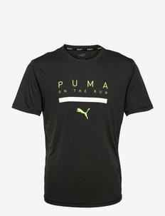 RUN LOGO SS TEE M - t-shirts - puma black
