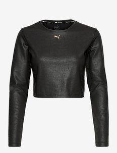 Moto Fitted Long Sleeve - langarmshirts - puma black