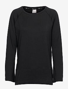 STUDIO Yogini LT Bell Sleeve Pullover - langarmshirts - puma black