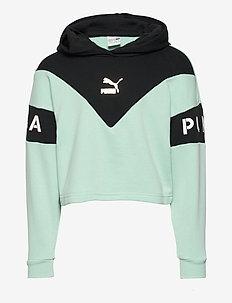 Color Block Hoodie - bluzy z kapturem - mist green