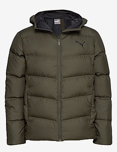 Essentials 400 Down Hooded Jacket - FOREST NIGHT