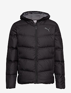 Essentials 400 Down Hooded Jacket - PUMA BLACK