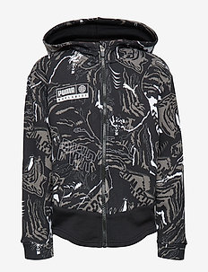 Alpha AOP Sweat Jacket FL B - PUMA BLACK