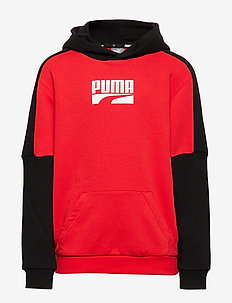 Rebel Block Hoody TR B - HIGH RISK RED