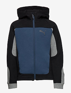 Evostripe Hooded Jacket B - dark denim