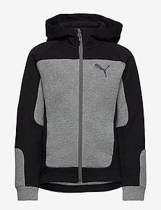 Evostripe Hooded Jacket B - MEDIUM GRAY HEATHER
