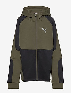 Evostripe Full-Zip Hoodie B - kapuzenpullover - forest night
