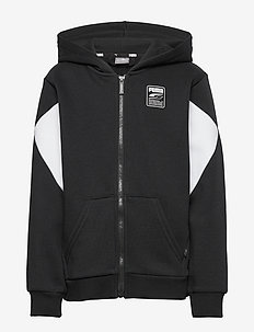 Rebel Block Full-Zip Hoodie FL B - kapuzenpullover - puma black