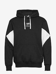 Rebel Hoodie Small Logo FL - bluzy z kapturem - puma black