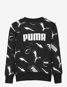 Alpha AOP Crew TR B - sweatshirts - puma black