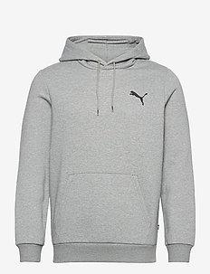 ESS Small Logo Hoodie FL - huvtröjor - medium gray heather-cat