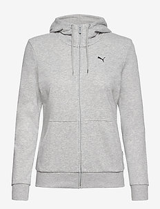 ESS Small Logo Full-Zip Hoodie TR - hættetrøjer - light gray heather