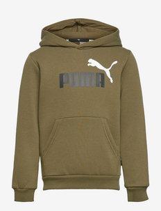 ESS+ 2 Col Big Logo Hoodie FL B - hoodies - grape leaf