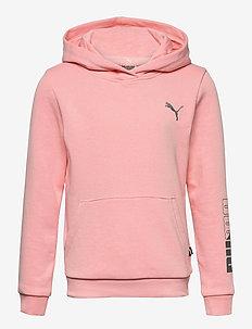 Graphic Hoodie G - hoodies - apricot blush
