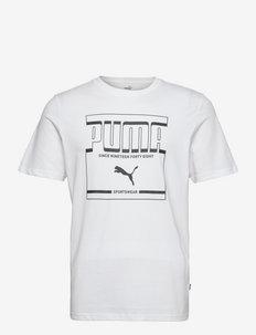 PUMA Graphic Tee - t-shirts - puma white