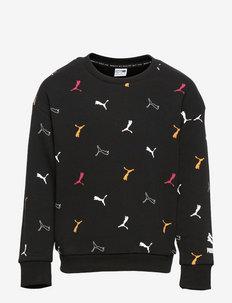Classics Graphics AOP Crew G - sweaters - puma black-aop