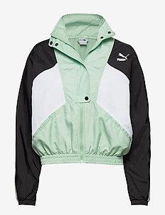 TFS Woven Track Jacket - anoraks - mist green