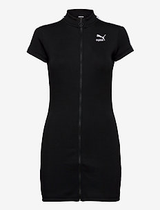 Classics Ribbed Tight SS Dress - sportieve jurken - puma black