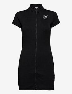 Classics Ribbed Tight SS Dress - sportkleider - puma black