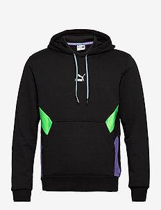 TFS Hoodie - sweats basiques - puma black-fluo green