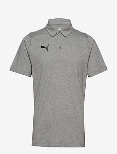 LIGA Casuals Polo - football shirts - medium gray heather-puma black