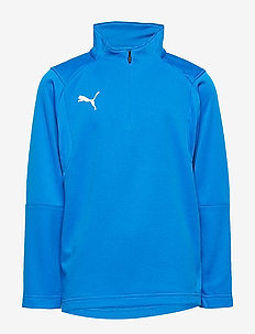 LIGA Training 1/4 Zip Top Jr - ELECTRIC BLUE LEMONADE-PUMA WHITE