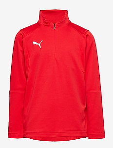 LIGA Training 1/4 Zip Top Jr - PUMA RED-PUMA WHITE