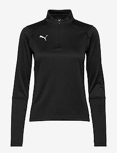 LIGA Training 1/4 Zip Top W - sweatshirts - puma black-puma white