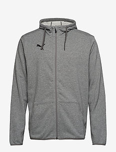 LIGA Casual Hoody Jacket - MEDIUM GRAY HEATHER-PUMA BLACK