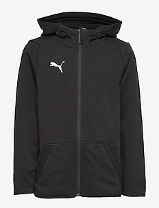 LIGA Casuals Hoody Jacket Jr - PUMA BLACK-PUMA WHITE