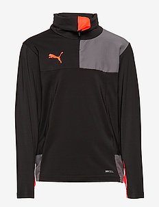 ftblNXT 1/4 Zip Top Jr - PUMA BLACK-NRGY RED