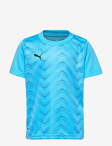 ftblNXT Graphic Shirt Core Jr - luminous blue-puma black