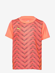 ftblNXT Graphic Shirt Core Jr - koszulki piłkarskie - nrgy peach-fizzy yellow