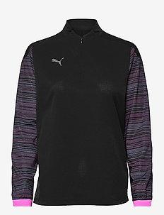 ftblNXT 1/4 Zip Top W - træningsjakker - puma black-blue glimmer-luminous pink