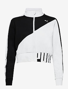 Train Stretch Knit Track Jacket - sweatshirts - puma black-puma white