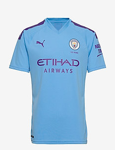 MCFC HOME Shirt Replica SS with  Sponsor Logo - TEAM LIGHT BLUE-TILLANDSIA PURPLE