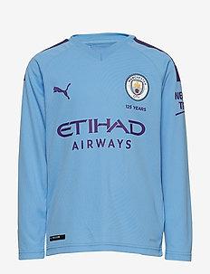 MCFC HOME Shirt Replica LS Jr with Sponsor Logo - TEAM LIGHT BLUE-TILLANDSIA PURPLE