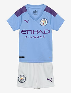 MCFC HOME MINI-Kit with Sponsor Logo, SOCKS & HANGER - TEAM LIGHT BLUE-TILLANDSIA PURPLE