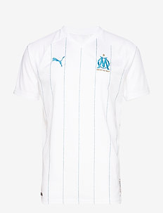 OM HOME Shirt Replica SS WITH sponsor - PUMA WHITE-BLEU AZUR