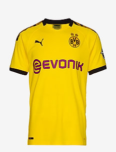 BVB Home Shirt Replica with Evonik Logo with OPEL Logo - CYBER YELLOW-PUMA BLACK